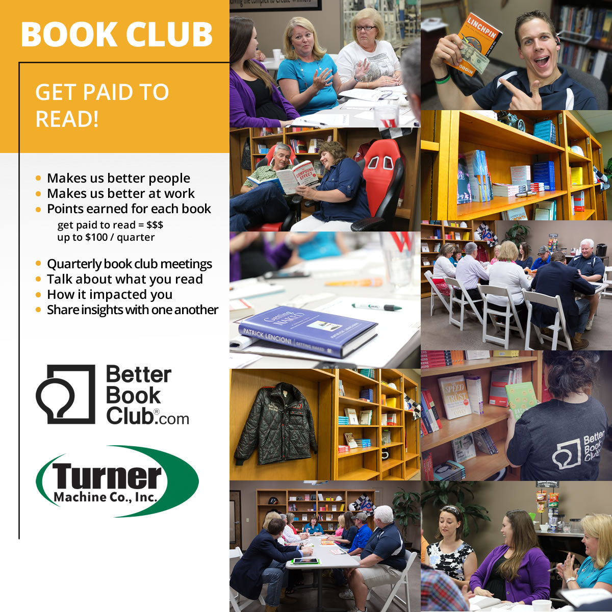 Better Book Club, What Makes Turner Machine Better